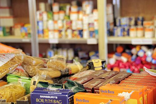 Full shelves at Vauxhall Foodbank